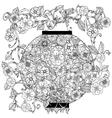Chinese lantern in zentagle vector image