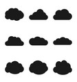 cloud web icons set simple collection vector image vector image