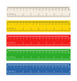 color measuring rulers set vector image vector image