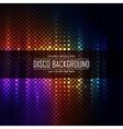 Colorful disco lighten background vector image vector image