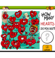 counting hearts activity vector image
