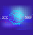 cryptocurrency exchange - buy sell vector image vector image