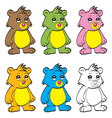 Cute cartoon baby bear vector image