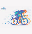 cycling race stylized background with motion vector image