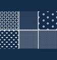 dark blue geometric seamless pattern collection vector image vector image