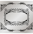 decorative frame retro black frame on gray vector image vector image