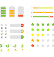 Different interface design elements Flat design vector image vector image