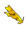 dog-a symbol year 2018 chinese year of the vector image vector image