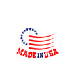 emblem with stars made in usa vector image vector image