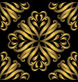 embroidery gold damask seamless pattern tapestry vector image vector image