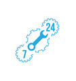 fix support customer service 24 hours 7 days a vector image vector image