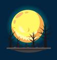 Flat design halloween graveyard vector image vector image