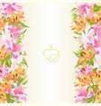 frame floral vertical border festive background vector image vector image