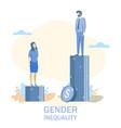 gender inequality flat style design vector image