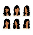 girls and mans hairstyles and haircut with face vector image