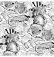 Graphic aquarium fish pattern vector image