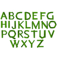 Green colored letters of the alphabet vector image vector image