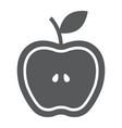half apple glyph icon food and fruit fresh apple vector image