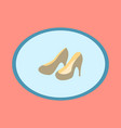 icon in flat design fashion footwear women high vector image vector image