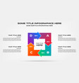 icons infographics with arrows element chart vector image