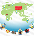 Infographic with earth and people vector image