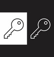 keys icons vector image