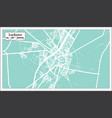 larkana pakistan city map in retro style outline vector image