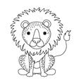 lion cute wildlife icon vector image vector image