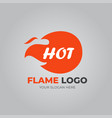 logo flame on light background vector image vector image