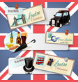 London Touristic Banner Set vector image vector image