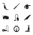 modern vacuum cleaner icon set simple style vector image vector image