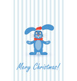 postcard for christmas and new year with the vector image