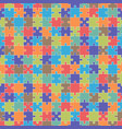 puzzle semless pattern vector image vector image