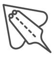 ramp fish line icon electric stingray vector image vector image