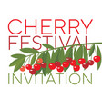 rape cherry fruit simple flat design element vector image vector image