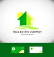Real estate green house home logo icon vector image