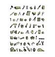 Repair home icons sketch for your design vector image vector image