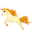 Running unicorn vector image