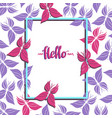 seamless hand drawn butterflies frame-01 vector image vector image