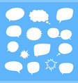 set blank empty white speech bubbles vector image vector image