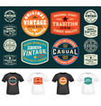 set colorful t-shirt stamps design for tee vector image vector image