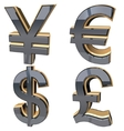 Set sign Currency vector image