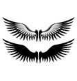 sign of angel wings vector image vector image