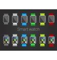 smart watch set vector image