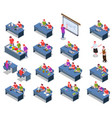 stem students icon set vector image vector image