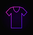 t-shirt colored outline icon tshirt symbol vector image vector image