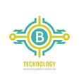 technology letter b - logo template concept vector image