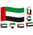 united arab emirates flag wave book circle pin vector image vector image