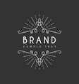 Vintage Label Logotype Insignia Badge for Your vector image vector image