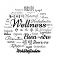 Wellness word cloud vector image vector image